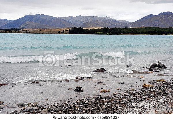 zeeland, tekapo, meer, nieuw - csp9991837