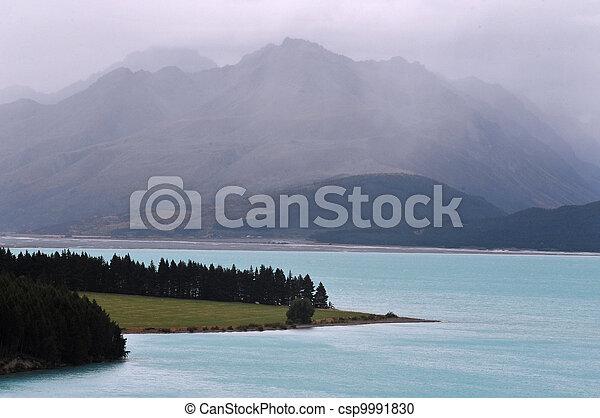 zeeland, tekapo, meer, nieuw - csp9991830