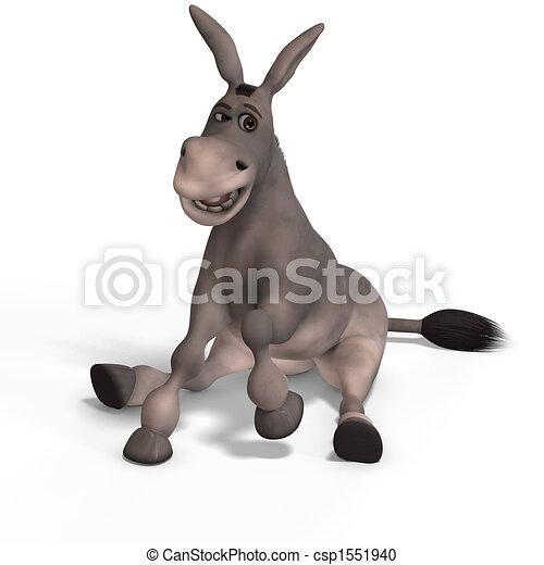 zeer, schattig, ezel, toon - csp1551940