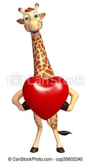 Giraffe Herz