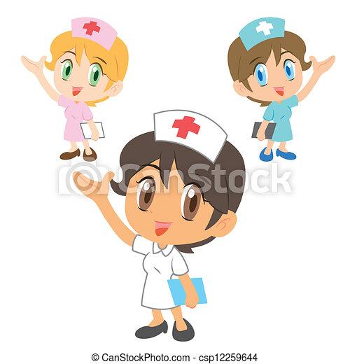 zeichen, krankenschwester - csp12259644