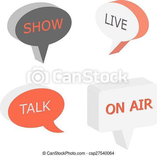 zeichen, symbol, luft, talkshow - csp27540064