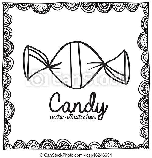 Candy Zeichnung - csp16246654
