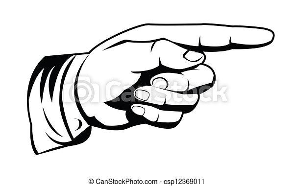 zeigen, hand - csp12369011