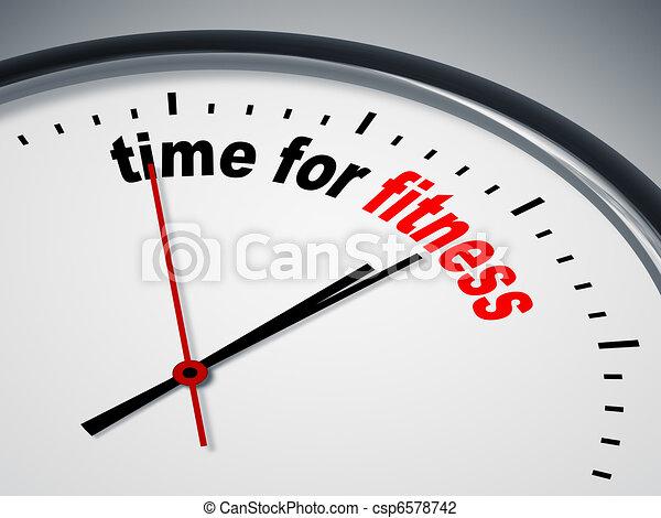 zeit, fitness - csp6578742