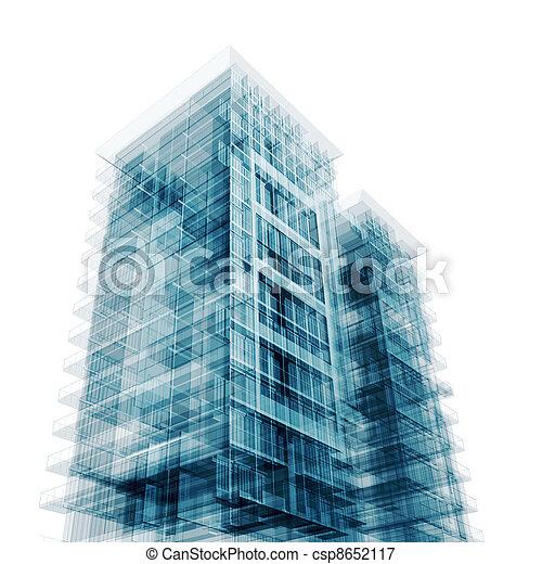 zeitgenössische architektur - csp8652117