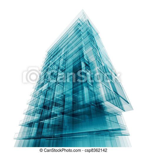 zeitgenössische architektur - csp8362142