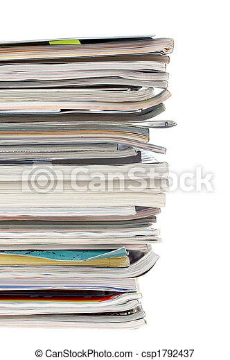 zeitschriften, stapel - csp1792437
