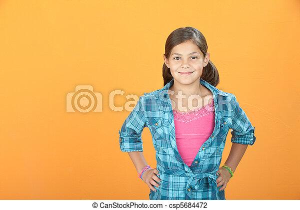 zeker, klein meisje - csp5684472