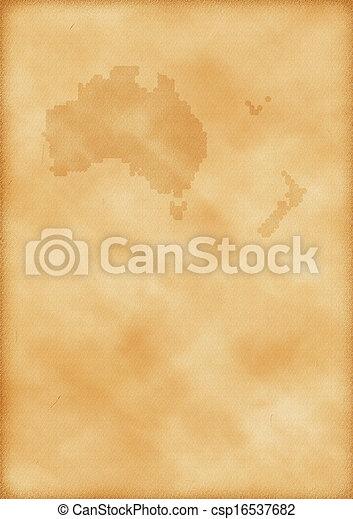 zelândia, mapa, austrália, velho novo - csp16537682