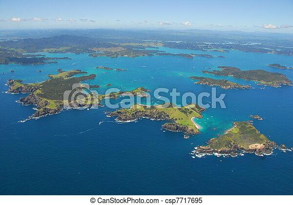 zelândia, novo, aéreo, ilhas, baía - csp7717695