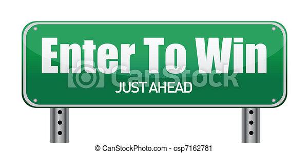 zelfs, vooruit, groene, winnen, binnengaan, straat - csp7162781