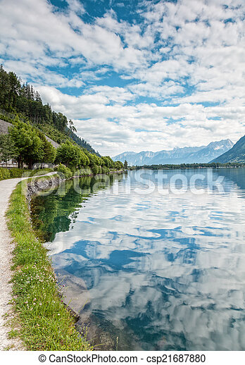 Zell Am See lake in Austria - csp21687880