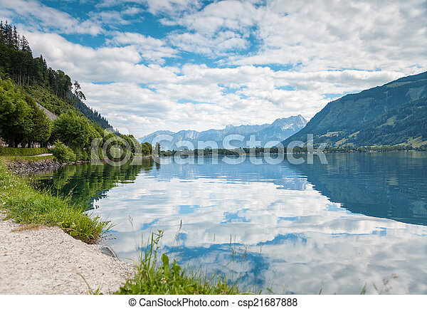 Zell Am See lake in Austria - csp21687888