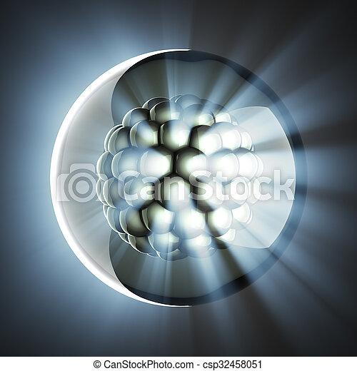 Mikrozellen wissenschaftliche Illustration - csp32458051
