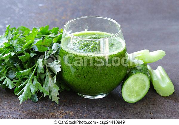 zeller, friss, zöld, lé - csp24410949