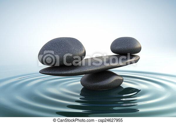 El equilibrio de las piedras Zen - csp24627955