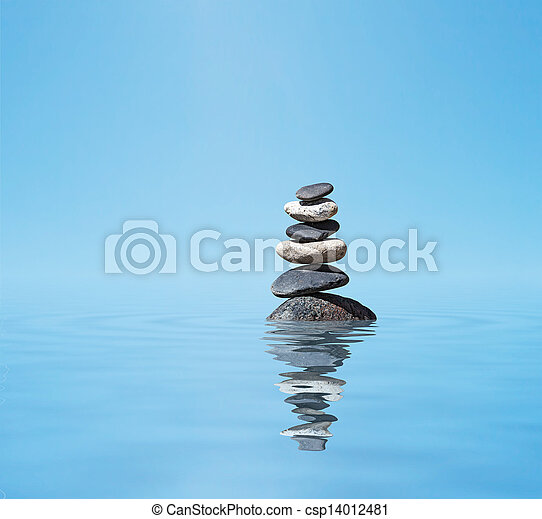 Zen balanced stones stack - csp14012481