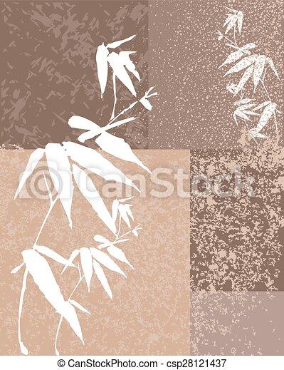Zen bamboo vintage illustration background - csp28121437