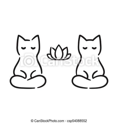 Zen Cats Drawing Csp