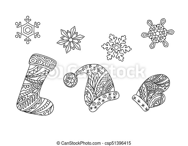 Zen Christmas Things And Snowflakes
