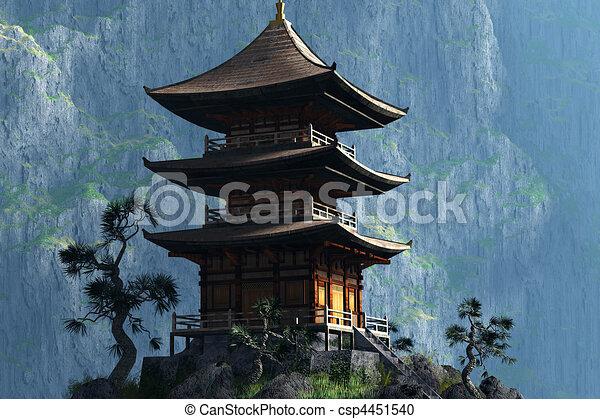 zen entrada budista templo