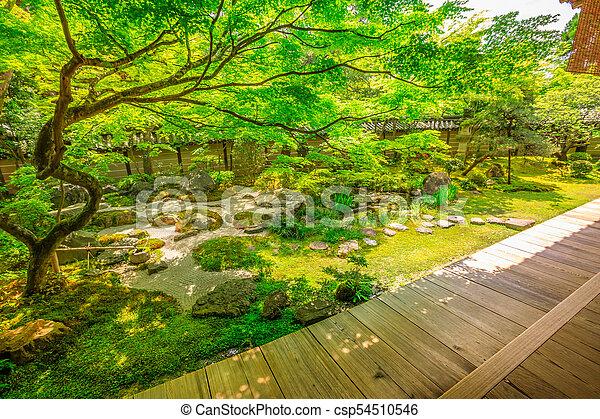 Zen Garden Kyoto Traditional Zen Garden In Spring Season Eikan Do