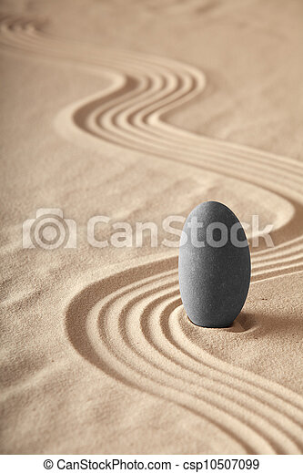 zen garden symplicity and harmony form a background for meditation and relaxation, for balance and health - csp10507099