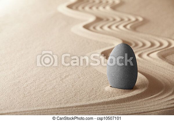 zen garden symplicity and harmony form a background for meditation and relaxation, for balance and health - csp10507101