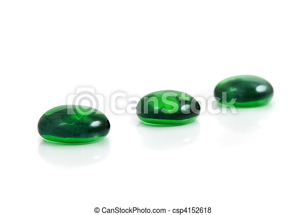 zen-like spa green shiny stones isolated on white - csp4152618