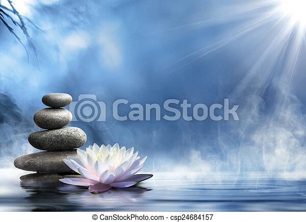 zen, masseren, zuiverheid - csp24684157