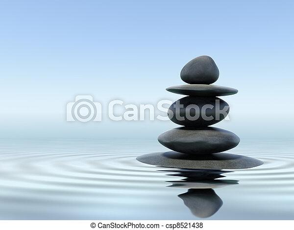 zen, pierres - csp8521438