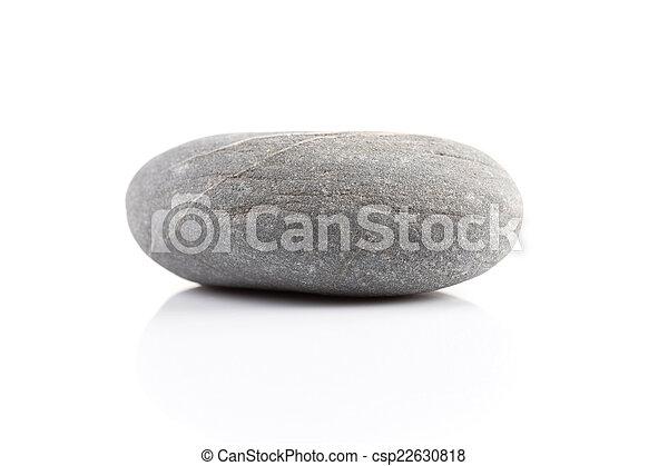 Zen stone - isolated over white - csp22630818
