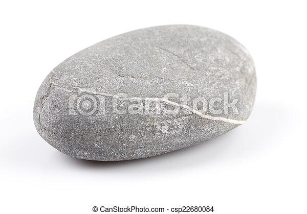 Zen stone - isolated over white - csp22680084