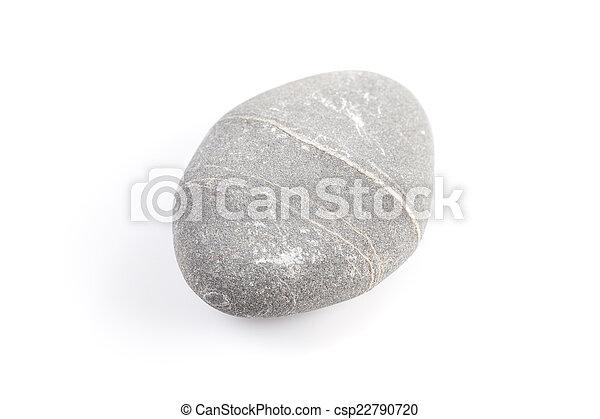 Zen stone - isolated over white - csp22790720