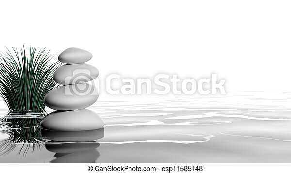 Zen stones in the water - csp11585148