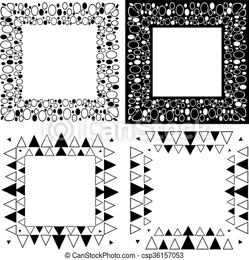 Zen Tangle Frames Square Frame With Simple Ornament Zentangle Or
