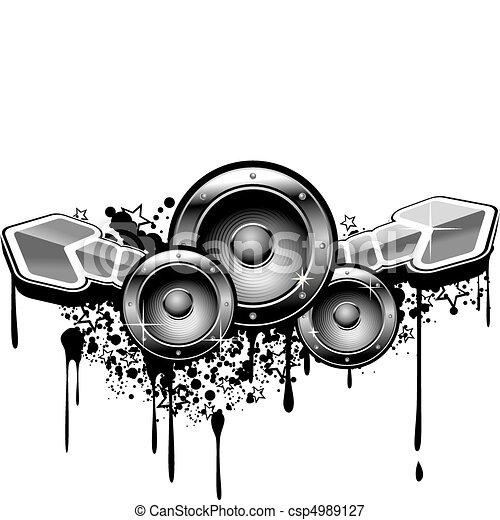 zene, grunge - csp4989127