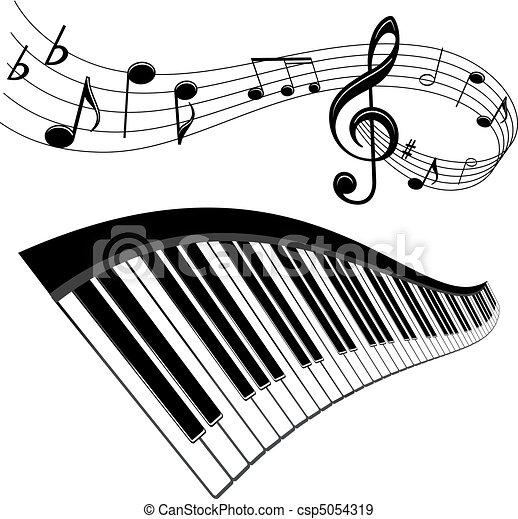 zene, háttér - csp5054319