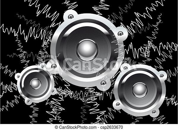 zene, háttér - csp2633670