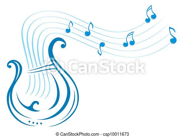 zene, líra - csp10011673