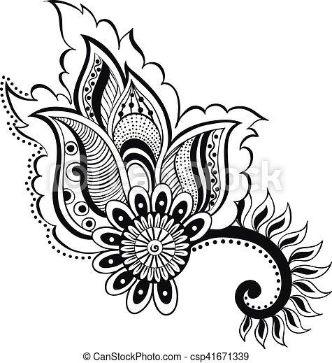 Vector illustration doodle zentangle boho flower oriental ...