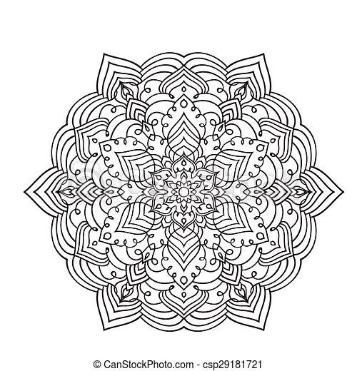 Handzeichnung zentangle Mandala Element - csp29181721