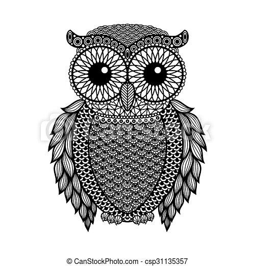 Vintage Black Owl