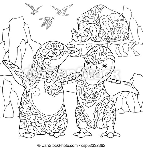polar bear coloring pages | 470x450