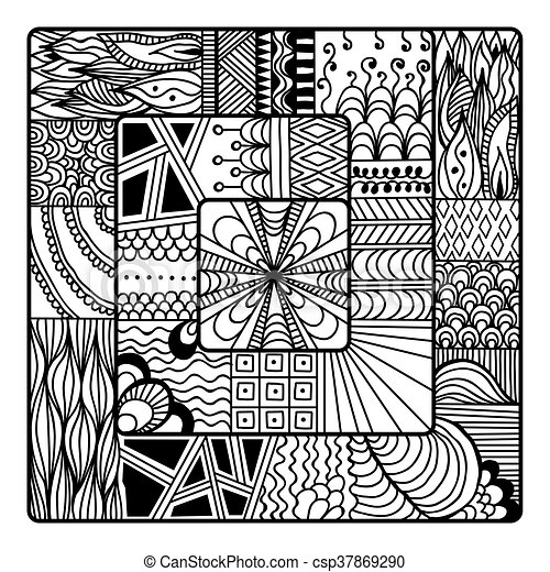 Zentangle vector for coloring book doodle mandala