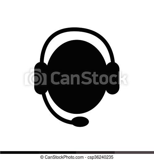 Call Center Operator Icon Illustration Design - csp36240235