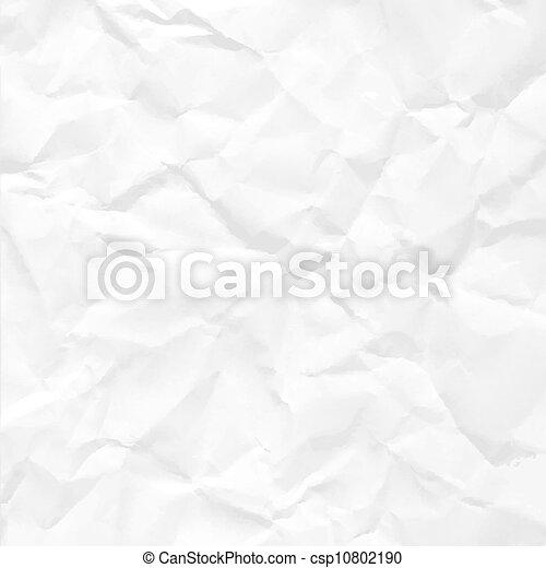 Papier zerknittert nahtlose Textur - csp10802190