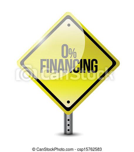 zero financing road sign illustration design - csp15762583