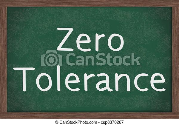 Zero Tolerance Policy at schools - csp8370267